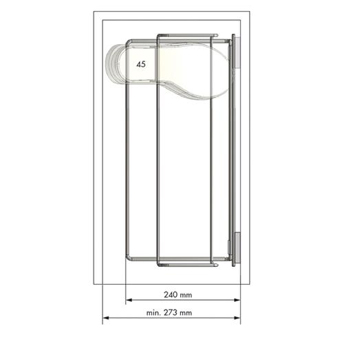 Interior armario juego soporte barra zapatero 1m for Interior armario zapatero