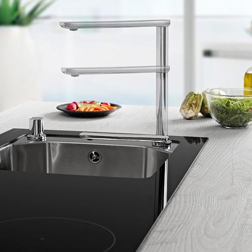 grifo de cocina de aleaci/ón de zinc de 1//4  Grifo de cromo de /ósmosis inversa RO Filtro de agua potable Zouminyy Grifo de grifo