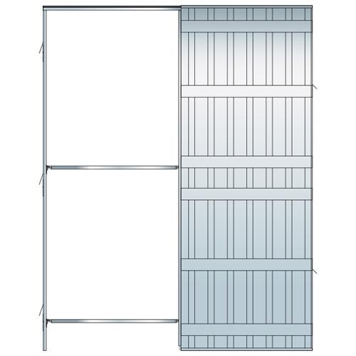 Estructuras met licas estructura puerta corredera pladur - Precio estructura metalica ...