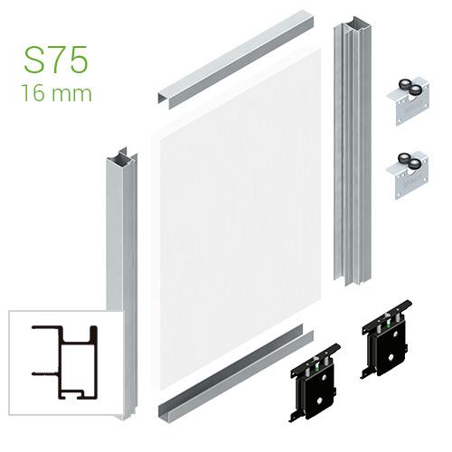 Corredera y kit para armario kit puerta corredera armario terra tr16min 2 6 m - Kit puertas correderas armarios ...